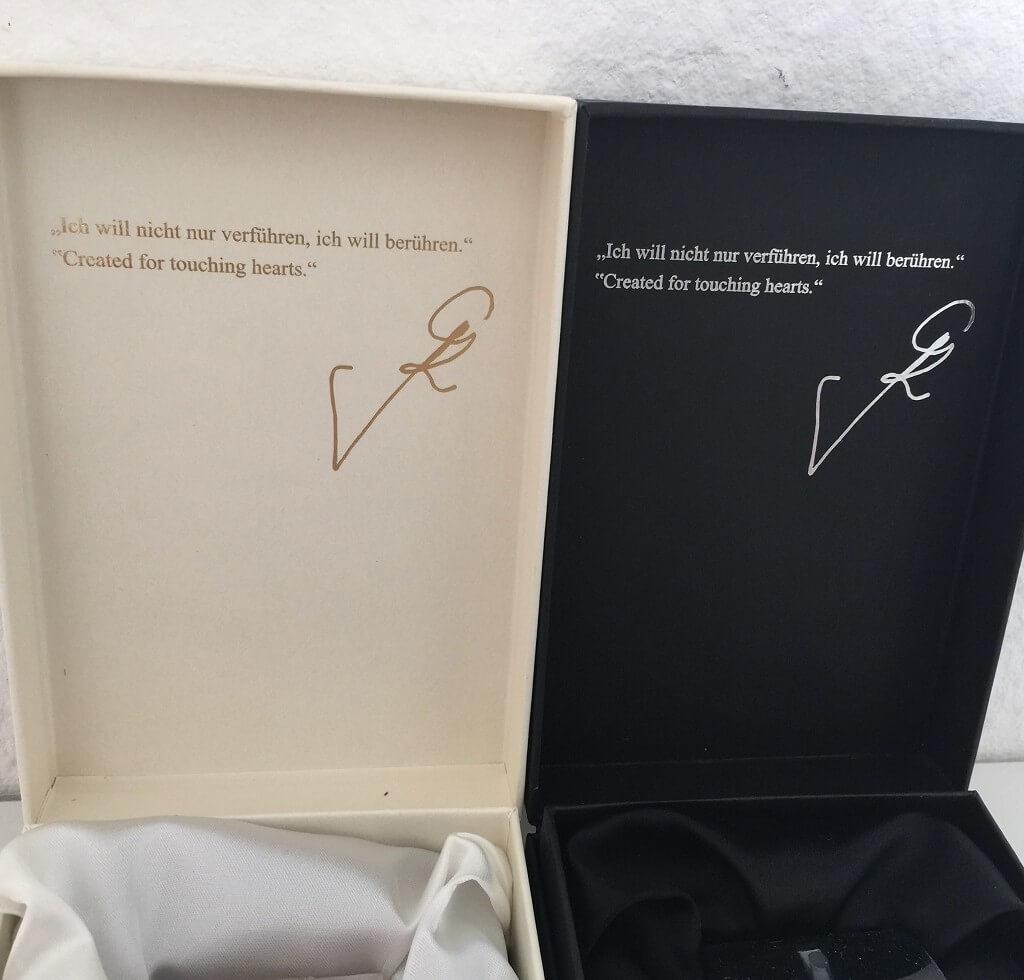 LR Parfum Guido Maria Kretschmer Duft Set Box Spruch innen
