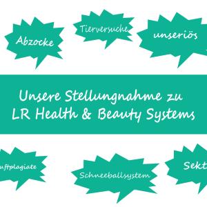 Stellungnahme Zu LR Health & Beauty Systems