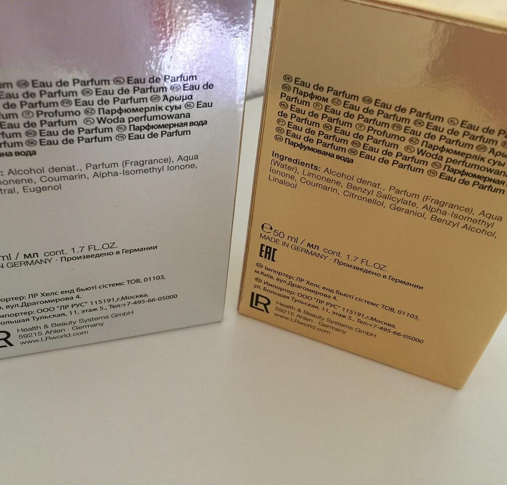 LR Affair Luxe Parfum Duft Set hinten