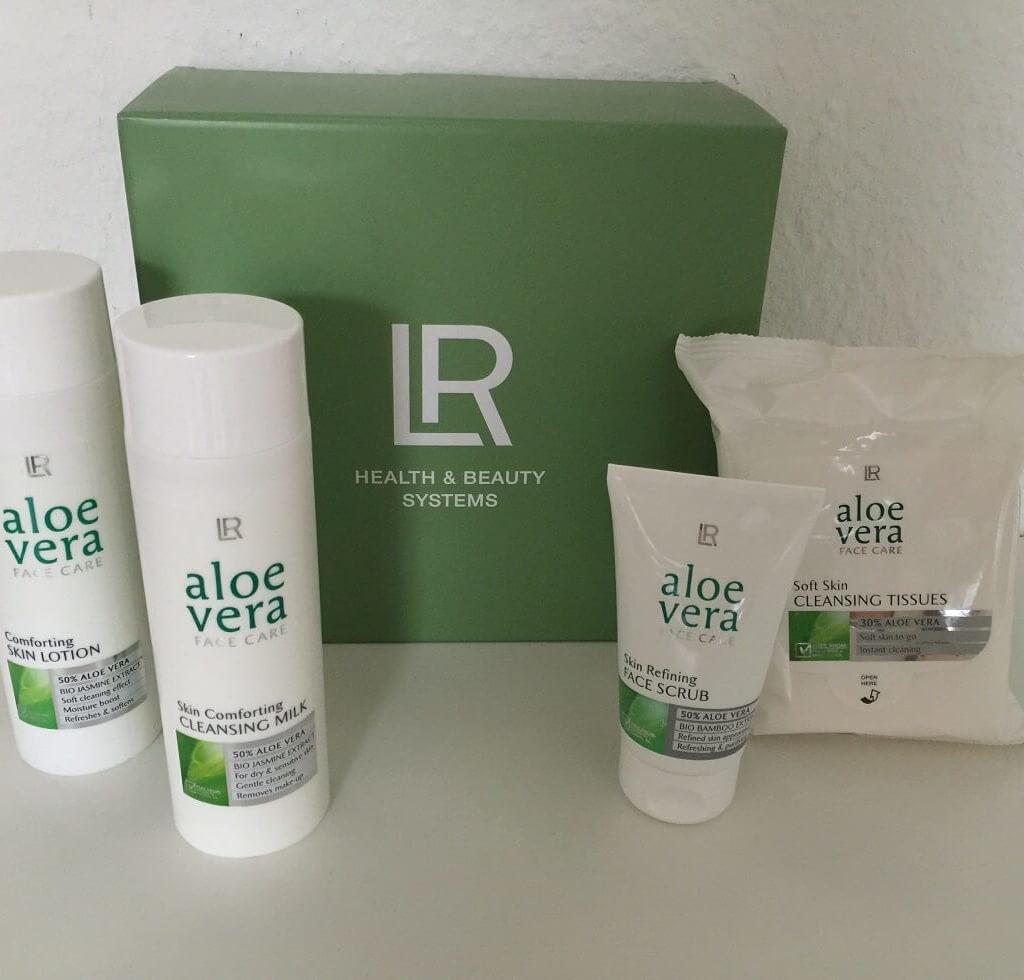 LR Aloe Vera Reinigungs Set Produkte vorn